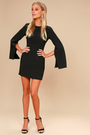 Hepburn Black Bell Sleeve Dress 1