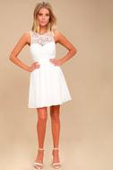 Romantic Tale White Lace Skater Dress 2