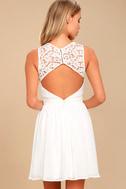 Romantic Tale White Lace Skater Dress 4