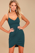 Forever Your Girl Teal Blue Bodycon Dress 3