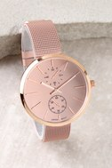 Race the Clock Rose Gold Watch 1
