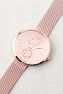 Race the Clock Rose Gold Watch 2