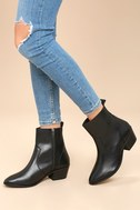 Iesha Black Leather Mid-Calf Boots 2