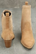 Flash Natural Suede Leather Pointed Mid-Calf Boots 4