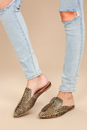 Lizzy Cheetah Print Pony Fur Loafer Slides 1