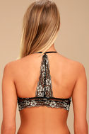 Genevieve Nude and Black Lace Bralette 3