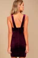 Three Cheers Plum Purple Velvet Bodycon Dress 4
