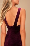 Three Cheers Plum Purple Velvet Bodycon Dress 5