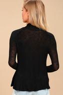 Weekend Snuggle Black Mock Neck Sweater Top 4