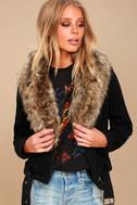 Oksana Brown Faux Fur Scarf 5