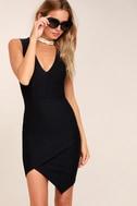 Be Me Black Sleeveless Bodycon Dress 2