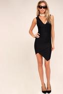 Be Me Black Sleeveless Bodycon Dress 1