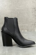 Novalie Black Pointed Toe Ankle Booties 3