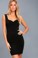 Count On It Black Sleeveless Bodycon Dress 1