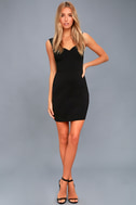 Count On It Black Sleeveless Bodycon Dress 2