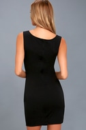 Count On It Black Sleeveless Bodycon Dress 3