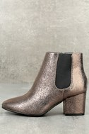 Magnus Pewter Metallic Ankle Boots 2
