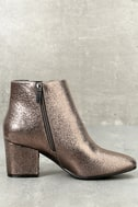 Magnus Pewter Metallic Ankle Boots 3