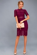 Remarkable Burgundy Lace Dress 2