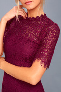 Remarkable Burgundy Lace Dress 5