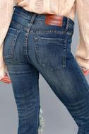 Freebirds II Medium Wash Distressed High-Waisted Skinny Jeans 4