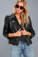 Ride Your Heart Out Black Vegan Leather Moto Jacket 3