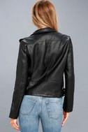 Ride Your Heart Out Black Vegan Leather Moto Jacket 4