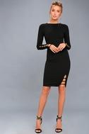 Haute Commodity Black Long Sleeve Bodycon Dress 1