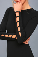Haute Commodity Black Long Sleeve Bodycon Dress 5