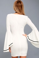 Most Beloved White Bell Sleeve Bodycon Dress 7