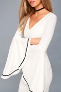 Most Beloved White Bell Sleeve Bodycon Dress 8