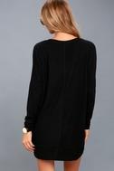 Estes Park Black Long Sleeve Sweater Dress 4
