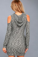 Just You and Me Heather Grey Cold-Shoulder Hoodie Dress 3