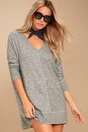 Estes Park Heather Grey Long Sleeve Sweater Dress 2