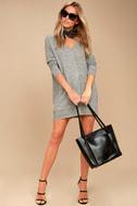 Estes Park Heather Grey Long Sleeve Sweater Dress 1