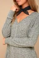 Estes Park Heather Grey Long Sleeve Sweater Dress 4