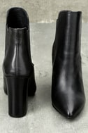 Starlight Black Leather Pointed Toe Ankle Booties 2