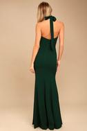 Taylor Forest Green Halter Maxi Dress 3
