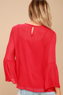 Meet Me in the City Red Long Sleeve Top 3