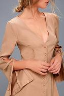 Jeanne Beige Long Sleeve Dress 4