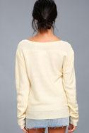 Mellow Move Cream Knit Sweater 4
