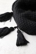 Northern Hemisphere Black Knit Scarf 2