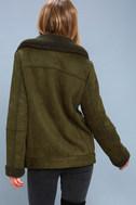 Dallas Olive Green Sherpa Coat 3
