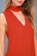 Ciao Bella Red Cutout Mock Neck Top 5