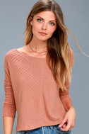 First Glance Rusty Rose Sweater Top 3
