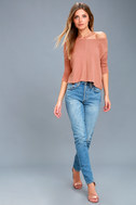First Glance Rusty Rose Sweater Top 2