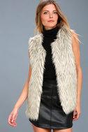 Groovy Baby Grey Faux Fur Vest 2