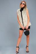 Groovy Baby Grey Faux Fur Vest 1