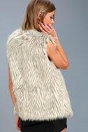 Groovy Baby Grey Faux Fur Vest 3