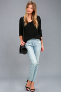 Laid Back Black Sweater Top 2